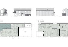 Plan- og fasadetegning.