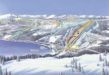 Kart hentet fra Gålå skianlegg