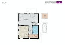 Plantegning av leilighet 1.