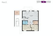 Plantegning av leilighet 2.
