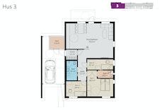 Plantegning av leilighet 3