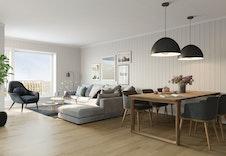 3D-illustrasjon interiør stue