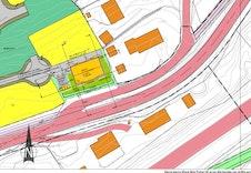 Situasjonsplan med plassering, carport og sportsboder.