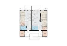 Planøløsning leilighet 3 og 4