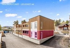 Fasade som viser hvor leiligheten ligger