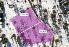 Tomt 50 og 87. Bildet viser kun tomteområdet. Faktisk plassering og størrelse på tomt vil avvike fra dette.